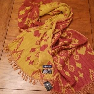 🆕️Ralph Lauren two sided scarf rusty/yellow
